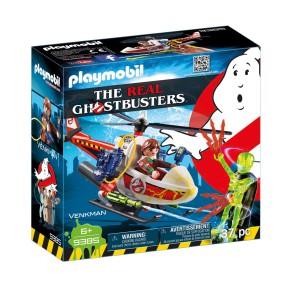 Playmobil - Venkman z helikopterem 9385