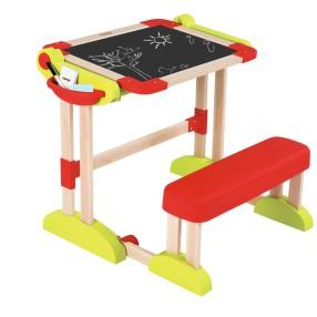 Smoby - Drewniana tablica stolik z ławką i akcesoriami 28112
