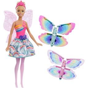 Barbie Dreamtopia - Kraina Tęczy Lalka Wróżka Latające skrzydełka FRB08