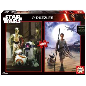 Educa - Puzzle Star Wars Epizod VI Przebudzenie mocy 2x500 el. 16523