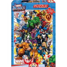 Educa - Puzzle Marvel Bohaterowie 500 el. 15560