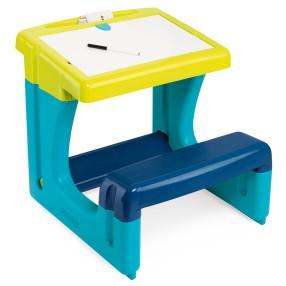 Smoby - Stolik z tablicą dwustronną Niebieski 420101
