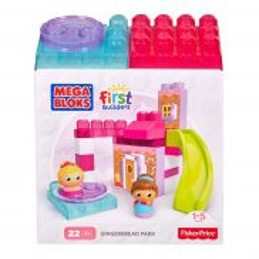 Mega Bloks First Builders - Małe zestawy Piernikowy plac zabaw DKX86