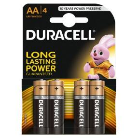 Duracell - Baterie AA/LR6 4szt.