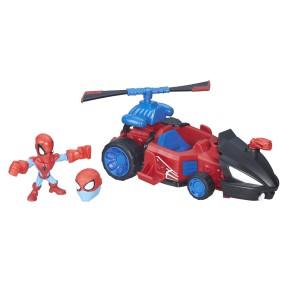 Hasbro Super Hero Mashers Micro - Spiderman z pojazdem B6684