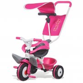 Smoby - Rowerek Baby Balade 3w1 różowy 444207