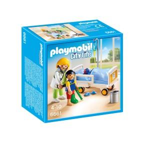 Playmobil - Lekarka przy łóżku chorego dziecka 6661