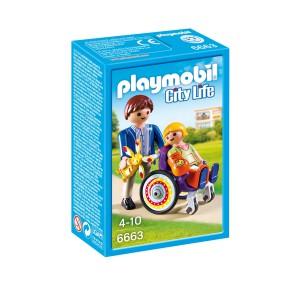 Playmobil - Dziecko na wózku inwalidzkim 6663