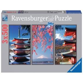 Ravensburger - Puzzle Japonia tryptyk 3 x 500 elem. 163151