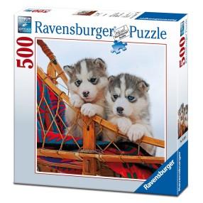 Ravensburger - Puzzle Szczenięta Husky 500 elem. 152308