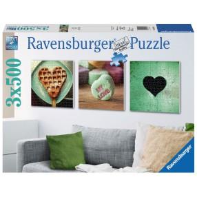 Ravensburger - Puzzle Symbole miłości tryptyk 3 x 500 elem. 199211