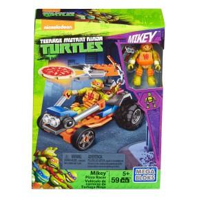 Mega Bloks Żółwie Ninja - Mickey i samochód do rozwożenia pizzy DMX38