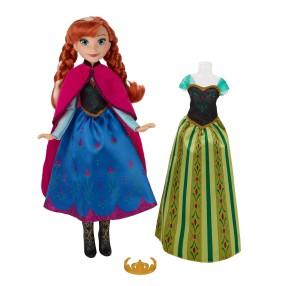 Hasbro Disney Frozen Kraina Lodu - Koronacja Lalka Anna 2 sukienki B5171