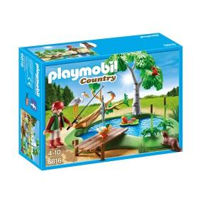 Playmobil - Staw z wędkarzem 6816