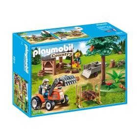 Playmobil - Drwal z traktorem 6814