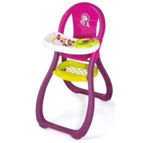 Smoby Masza i Niedźwiedź - Krzesełko dla lalki do karmienia 240201