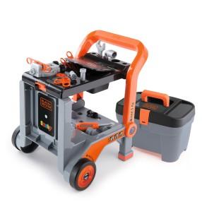 Smoby - Black & Decker Stół majsterkowicza Walizka z narzędziami 3w1 360202