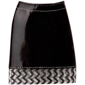 Barbie - Czarna spódniczka w jodełkę DMB37