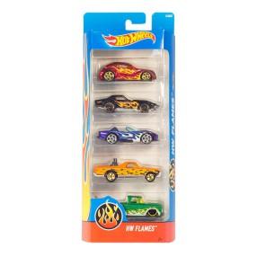 Hot Wheels - Małe samochodziki Pieciopak 5-pak Flames 01806 DJD22