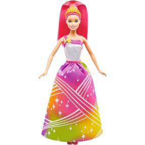 Barbie - Tęczowa Księżniczka ze światełkami DPP90
