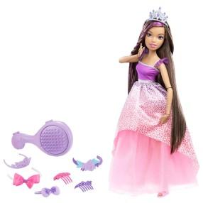 Barbie - Długowłosa Księżniczka Duża lalka Brunetka 43 cm DPK21