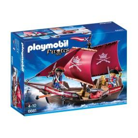 Playmobil - Żaglowiec wojskowy z armatą 6681