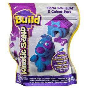 Kinetic Sand Build - Piasek konstrukcyjny 2 kolory 454g Fioletowy i niebieski 20072344