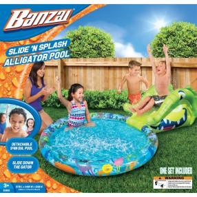 Banzai - Basen ze zjeżdżalnią krokodyl 20902