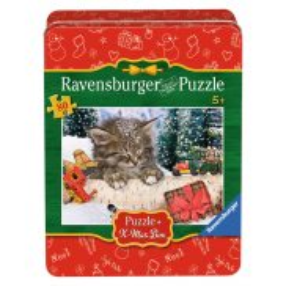 Ravensburger - Puzzle Kotek na śniegu 80 elem. 075478