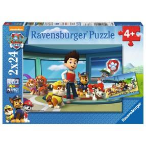 Ravensburger - Psi Patrol Pomocny węch Puzzle 2 x 24 elem. 090853