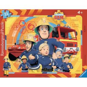 Ravensburger - Strażak Sam Dzielna ekipa Puzzle 33 elem. 061143