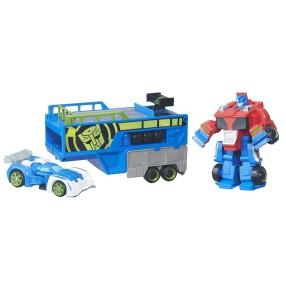 Playskool Transformers RSB - Rescue Bots Optimus Prime i przyczepa wyścigowa B5584