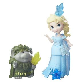Hasbro Disney Frozen Kraina Lodu - Mini laleczka z przyjacielem Elsa i troll Bazaltar B7467