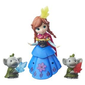 Hasbro Disney Frozen Kraina Lodu - Mini laleczka z przyjacielem Anna i Trolle B7466