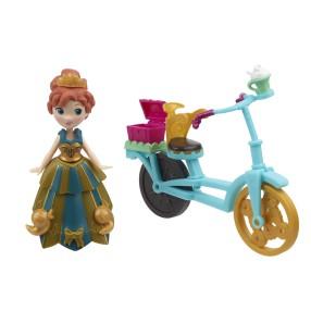 Hasbro Disney Frozen Kraina Lodu - Mini laleczka Anna na rowerze B5190