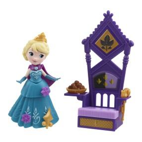 Hasbro Disney Frozen Kraina Lodu - Mini laleczka Elsa na tronie B5189