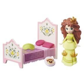 Hasbro Disney Frozen Kraina Lodu - Mini laleczka Anna z łóżkiem B7462