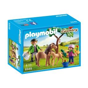 Playmobil - Kucyk mama ze źrebaczkiem 6949