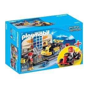 Playmobil - Zestaw startowy Warsztat gokartowy 6869