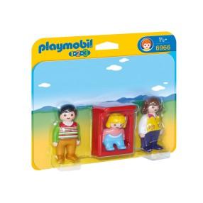 Playmobil - 1.2.3 Rodzice z kołyską 6966