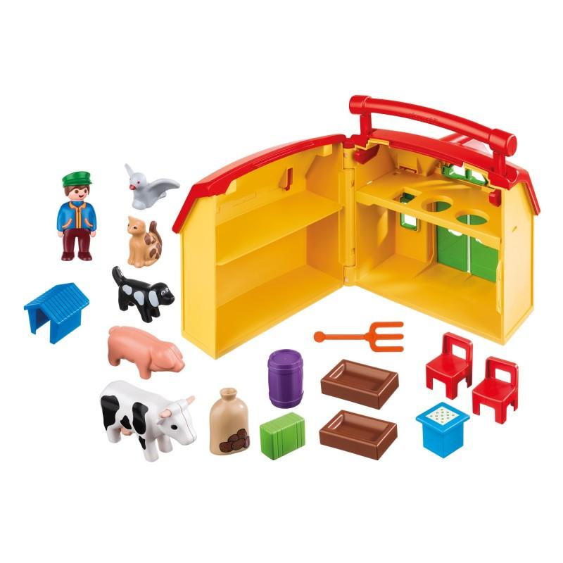 playmobil 1 2 3 moje przeno ne gospodarstwo rolne 6962. Black Bedroom Furniture Sets. Home Design Ideas