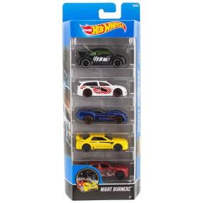 Hot Wheels - Małe samochodziki Pieciopak 5-pak Nightburnerz DJD30