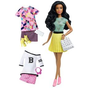Barbie Fashionistas - Lalka z ubrankami Fabulous DTD97