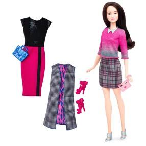 Barbie Fashionistas - Lalka z ubrankami Chic With A Wink DTD99