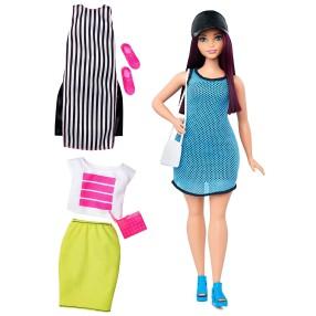 Barbie Fashionistas - Lalka z ubrankami So Sporty, Curvy Dark-Haired DTF01