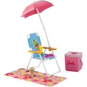 Barbie - Akcesoria wypoczynkowe Zestaw plażowy DVX49