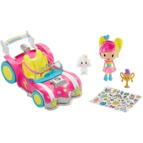 Barbie w Świecie Gier - Pojazd + minifigurki DTW18