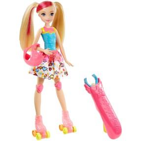 Barbie w Świecie Gier - Lalka na rolkach DTW17