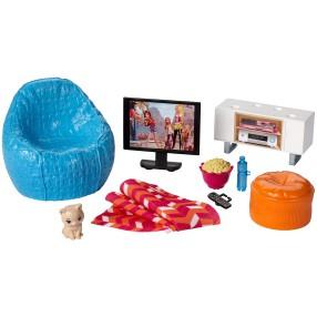 Barbie - Mebelki i akcesoria Pokój telewizyjny DVX46
