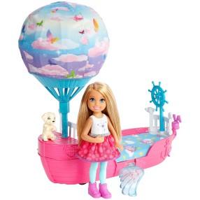 Barbie Dreamtopia - Chelsea Magiczna łódka + lalka DWP59